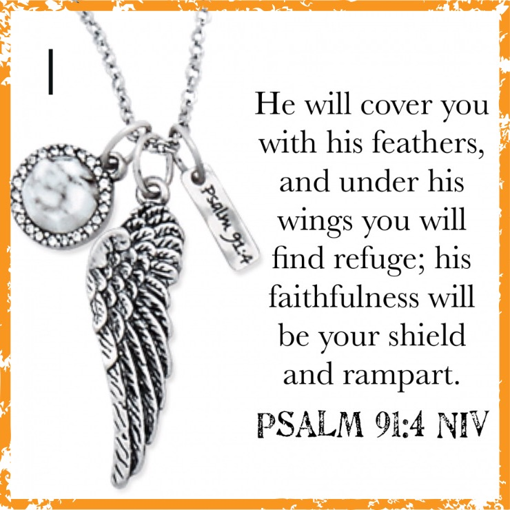 Psalms 91:4 Necklace