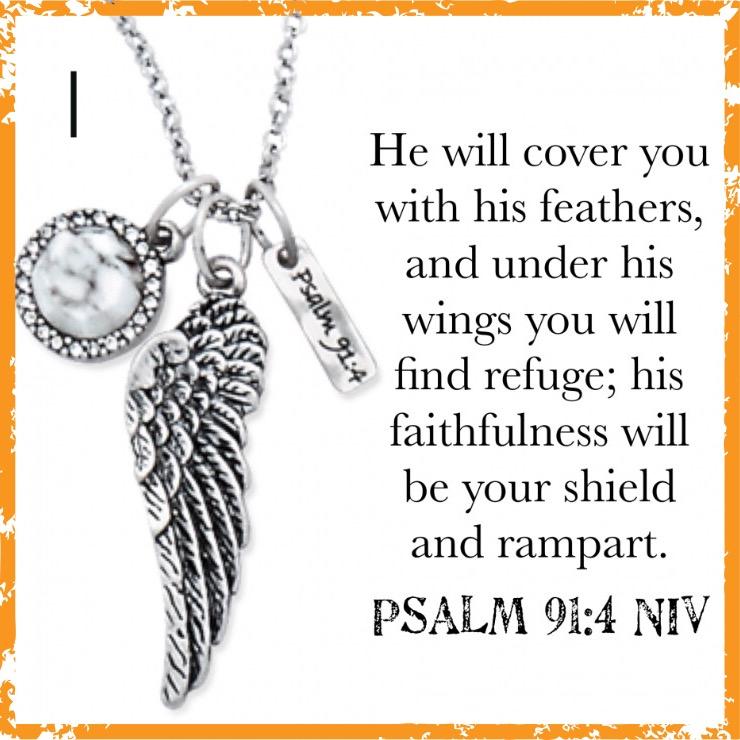 Psalms 91:4 Necklace